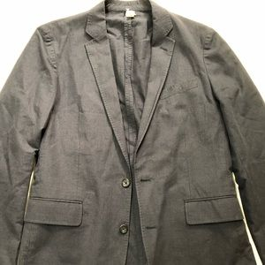 UNLINED Ludlow NAVY Blazer 38R Cotton Dual Vent